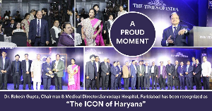 Dr. Rakesh Gupta has been recognized as 'The Icon of Haryana' by Times of India