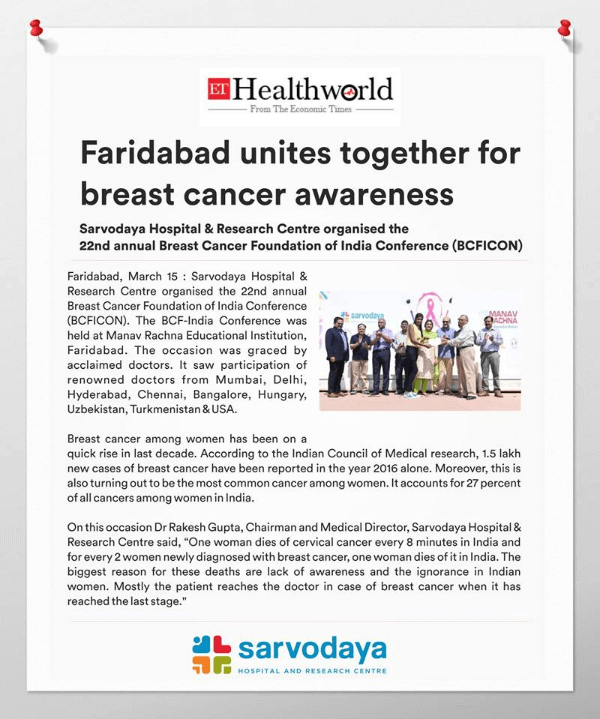 Faridabad unites together for breast cancer awareness